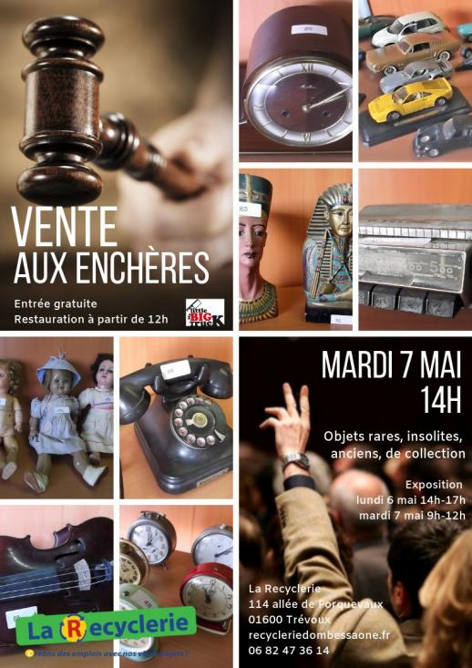 Recyclerie Trevoux vente encheres mai 2019 Flyer